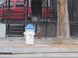 Some of the hydrants in San Francisco are extra fat with painted caps. These are high-pressure hydrants, fed from a reservoir or one of several storage tanks and pump stations. Photo: Alex Wilson