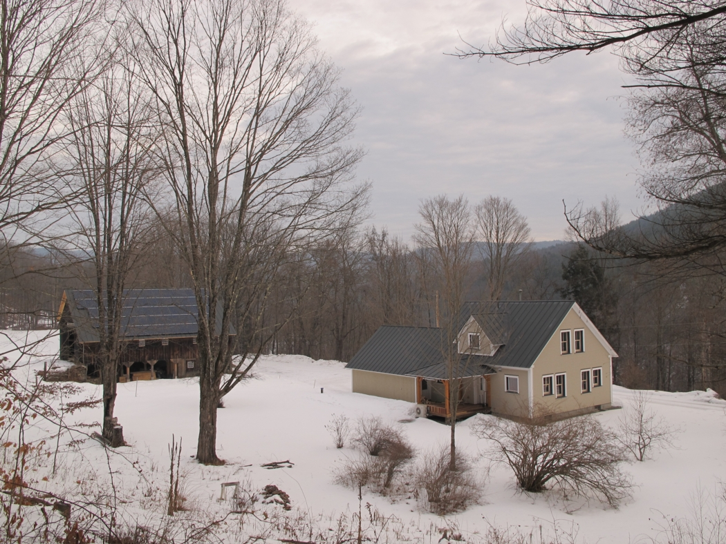 Our newly renovated house and barn in Dummerston, Vermont will keep us safe even during an extended power outage.