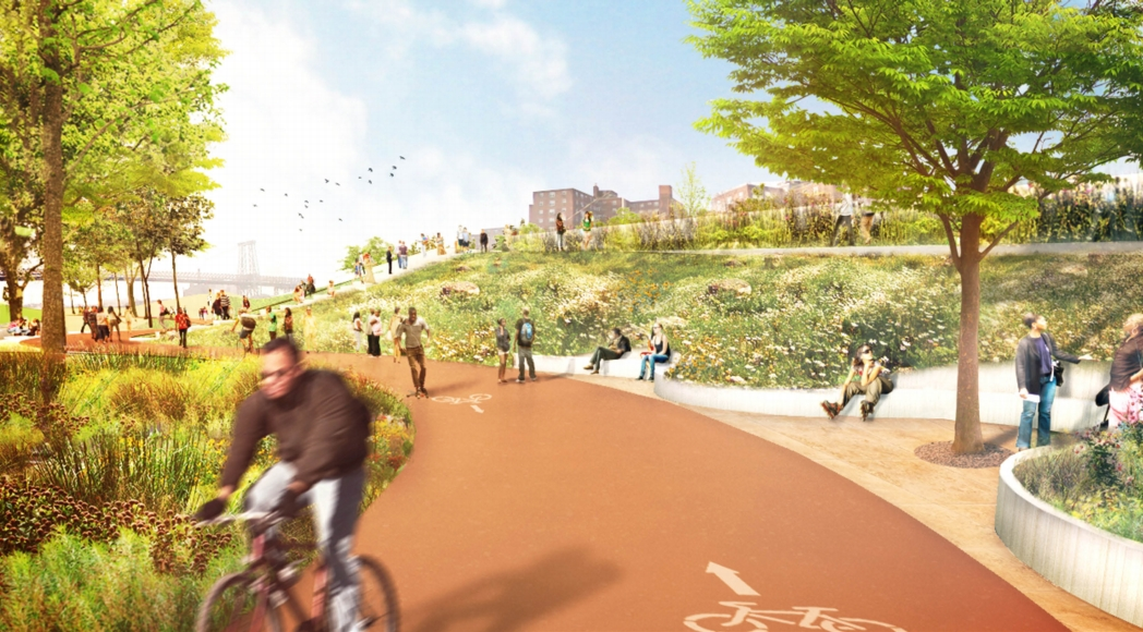 A new scenic bikeway along the Bridging Berm. Image: the BIG Team