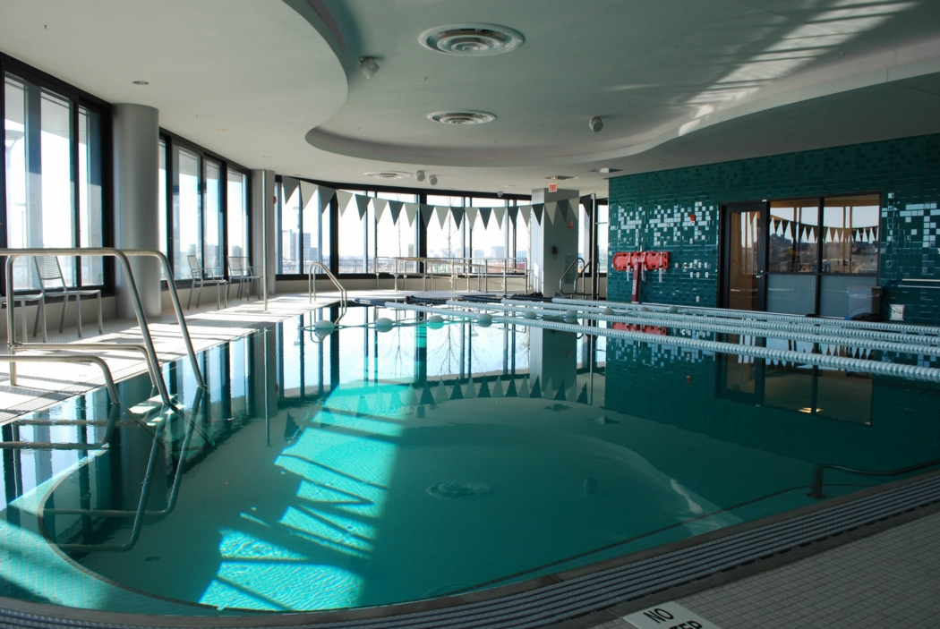 The therapeutic pool at Spaulding is located on the first floor. Photo: Spaulding Rehab Hospital