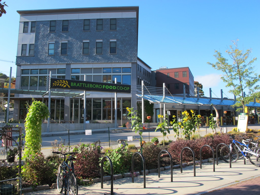 The Brattleboro Food Co-op building, completed three years ago, includes two floors of affordable housing above the store and Co-op offices. Photo: Alex Wilson