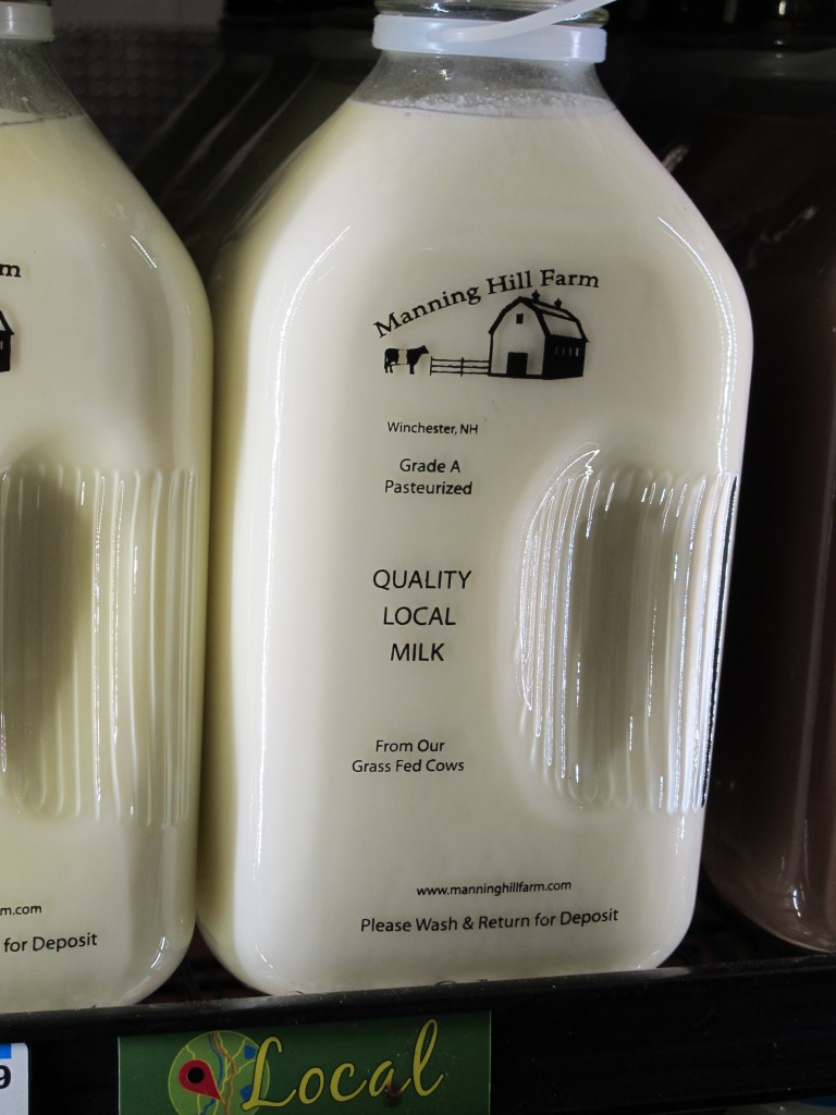 Manning Hill Farm is a fairly new dairy close to Brattleboro, and their milk is now carried in our Co-op. The diversified farm milks grass-fed cows of a heritage breed: Dutch Belted. They pasteurize at relatively low temperature, and the milk is non-homogenized. Photo: Alex Wilson