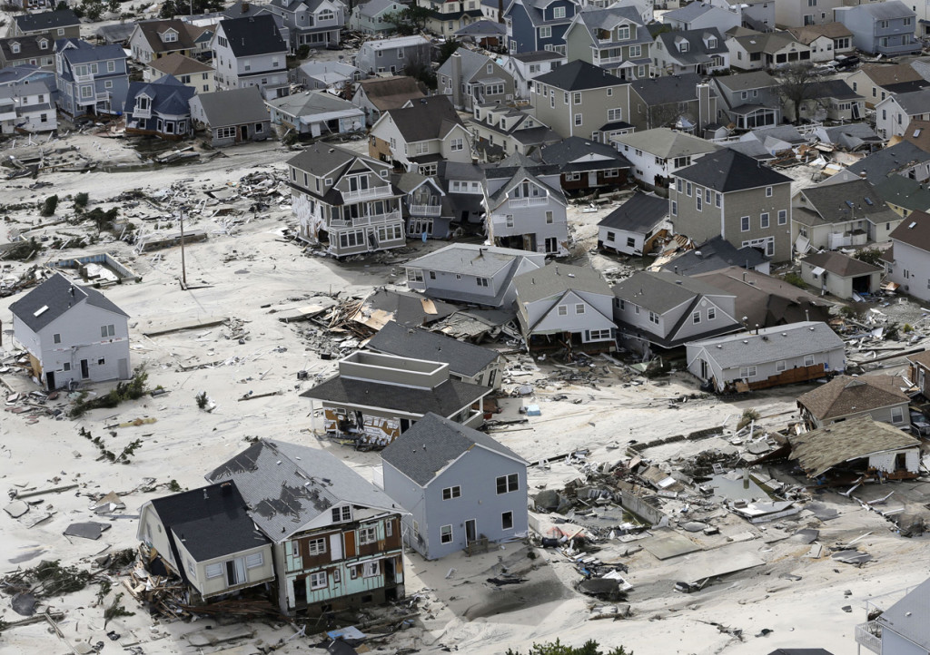 Seaside Heights, New Jersey on October 31, 2012, following Superstorm Sandy. Photo: Mike Groll, AP