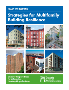 Cover of the new Enterprise Community Partners manual on making multifamily affordable housing more resilient.