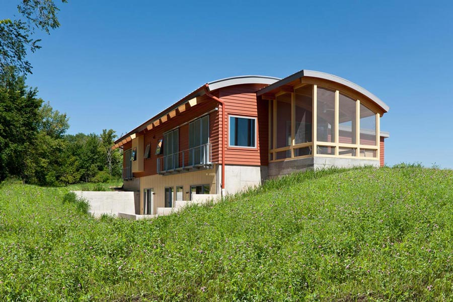 Fundamentals of resilient design 5 passive solar heating for Solar energy house designs