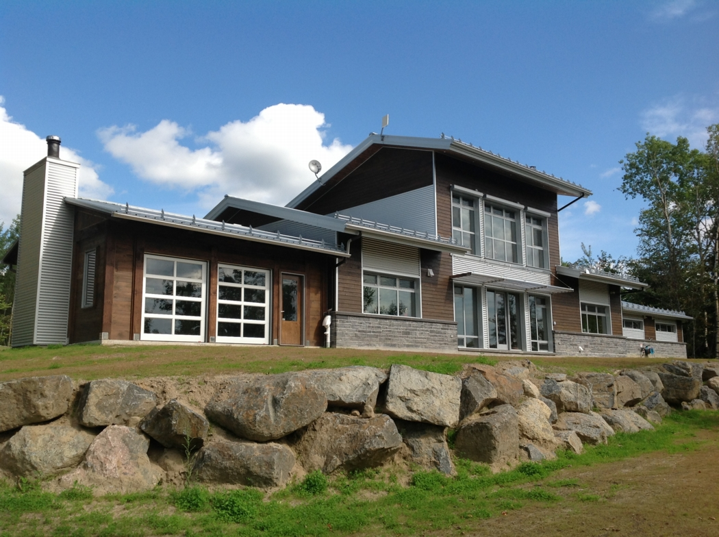 Exterior View Of The Kenogami House In Saguenay Quebec Built By Alain Hamel